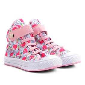 29a57478526 Tênis Infantil Cano Alto Kurz Flamingos Feminino