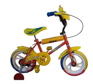 Bicicleta Rod.12 Varón Con Guardabarros Y Consola + Bocina