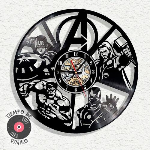Reloj De Pared Avengers Elaborado En Disco Lp (vengadores)