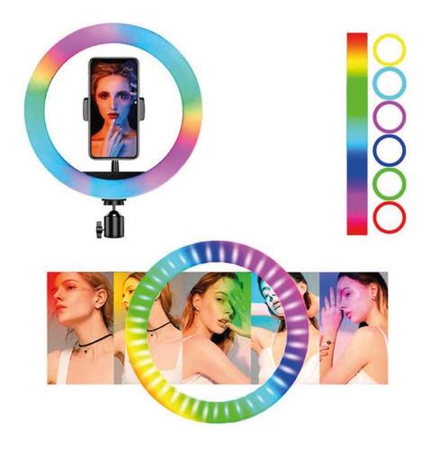 Aro De Luz  Led  Colores 26 Cm Fotografía Selfie + Trípode