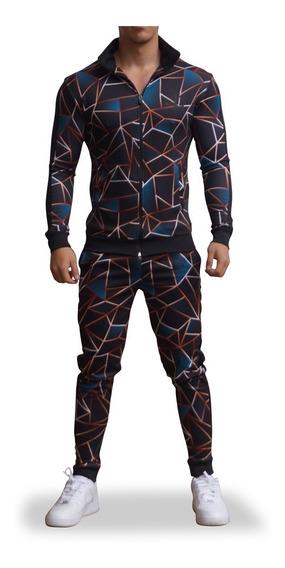 Conjunto John Leopard Elite Track Pattern Slimfit (ajustado)