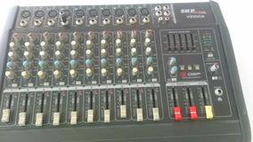 Mesa De Som Amplificada Skp Vz100a 10 Canais