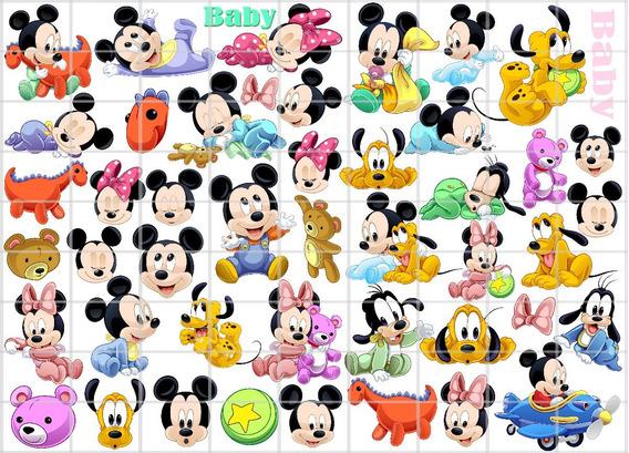 Mickey Minnie Baby Vetor Imagens Pluto Donald Margarida