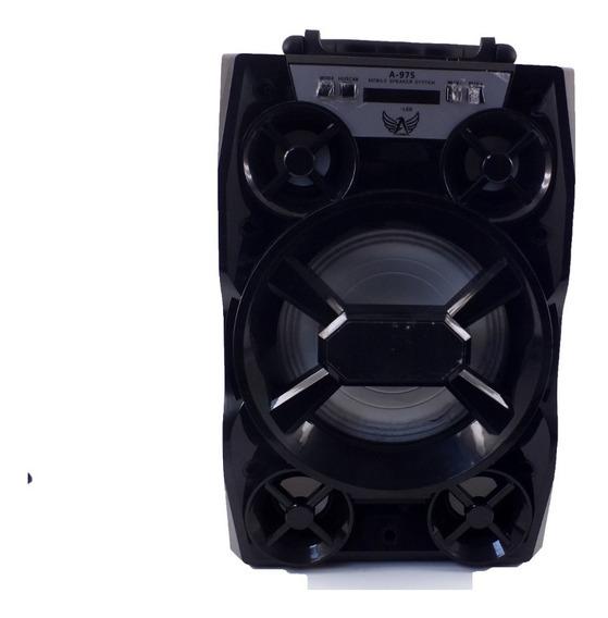 Caixa De Som Bluetooth Usb Radio Fm Ltomex Led Aux A10064
