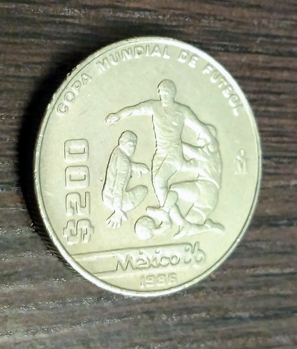 Imagen 1 de 4 de Moneda De 200 Pesos México 86 1986