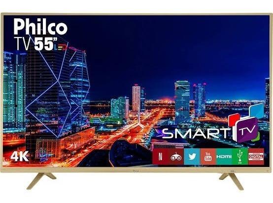 Smart Tv Philco Edição Champagne 55pol 4k