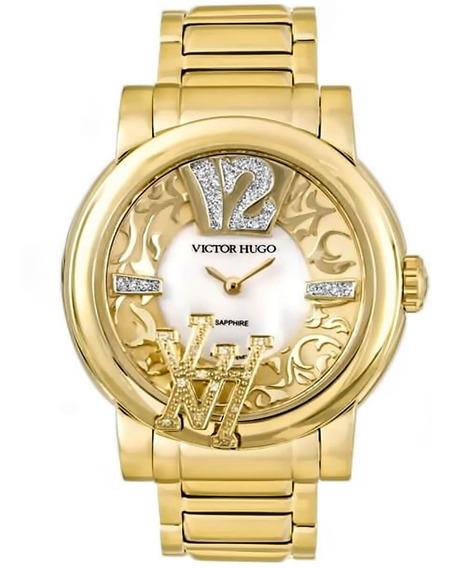 Relógio Feminino Victor Hugo Vh11128lsg/28m Barato Original