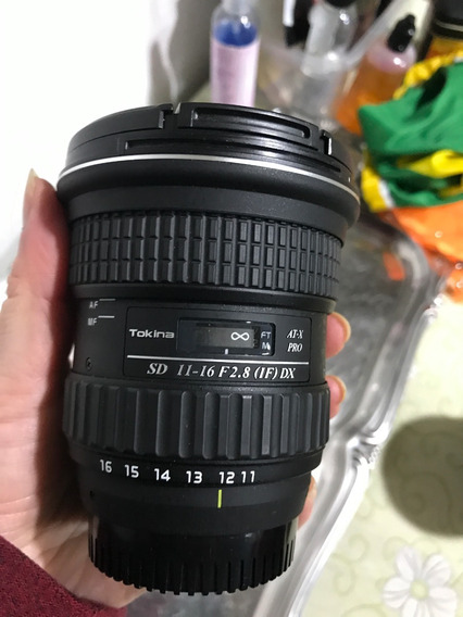 Lente Tokina Sd 11-16 F2.8 (1f) Dx Atx-pro Nikon - Como Nova