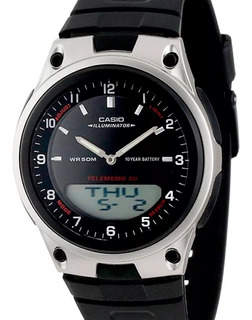 Reloj Casio Hombre Aw-80-1av Agujas Digital Luz Led Cuotas !