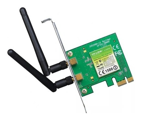 Placa Red Wifi Tp Link Wn881nd 300mbps 2 Antenas 881nd Pci-e