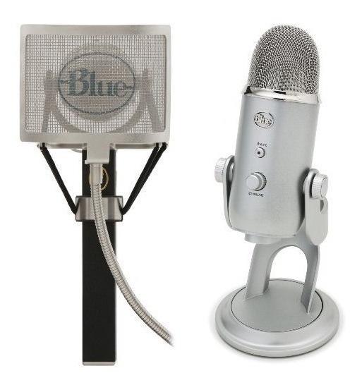 Micrófonos Azules El Pop Pop Universal Filter Y Micrófonos A
