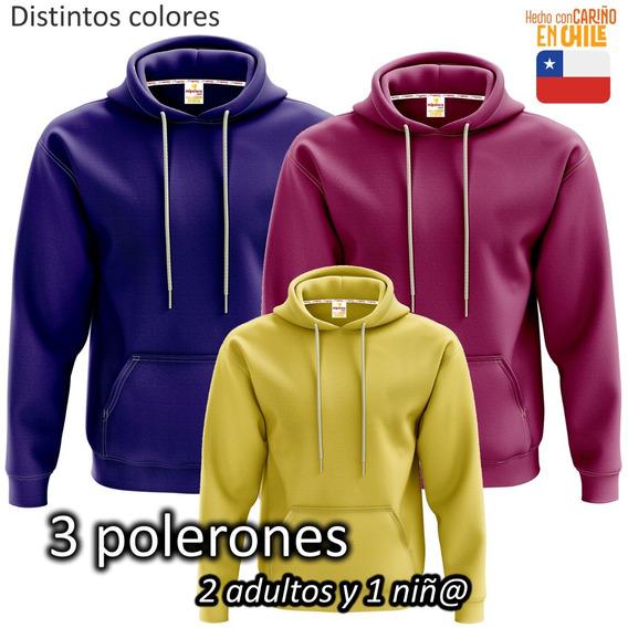 3 Polerones Canguro Franela Nacional Full Color - Mipolera