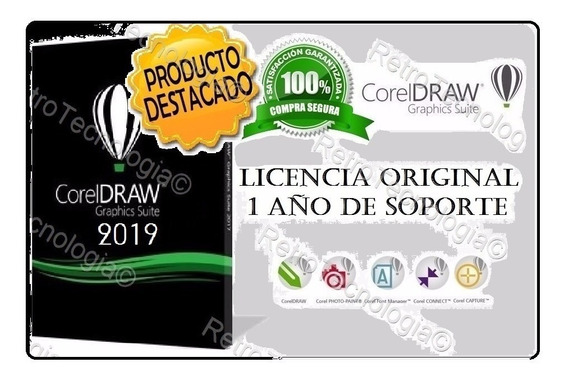 Corel Draw Suit 2019 Español Original X8 X7 Software Digital