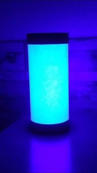 Luminária Abajur De Led Azul Neon Lisa Sem Tema Geek Setup