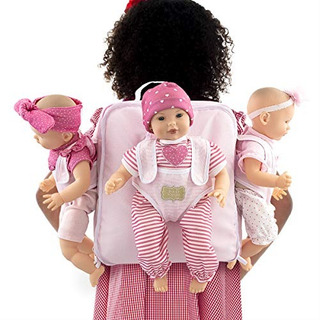 Fao Schwarz Tripletes De Muñeca Bebe Con Mochila