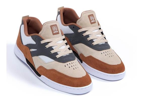 Tênis Hocks Skate Vita Sneaker Caramelo Original Masculino E Feminino Couro Confortável Promoção Envio Imediato