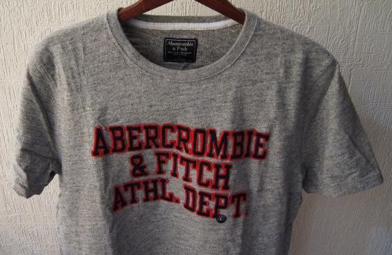 Abercrombie & Fitch Playera Talla L Color Gris-jaspeado