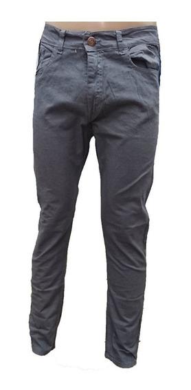 Pantalon Chupin Gabardina Elastizado Niño Jean Var. Colores