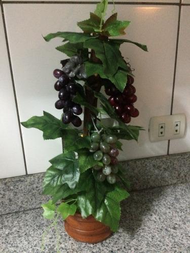 Planta Artificial Vid Con Racimos De Uvas De 45ctms
