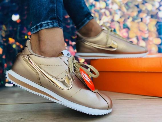 zapatos nike mujer dorados