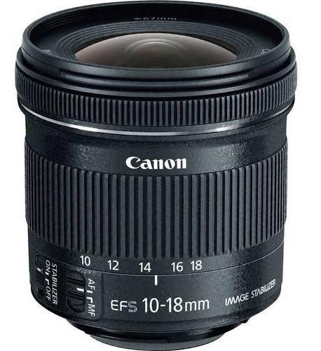 Lente Canon Ef-s 10-18mm F4.5-5.6 Is Stm Nf E Garantia 1 Ano
