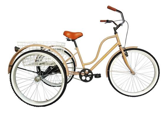 Tricicleta Para Adulto R26 Urbana Retro Canasta Grande Xl