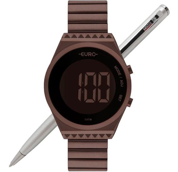 Relógio Euro Feminino Digital Fit Slim Eubjt016af/4m C/ Nfe