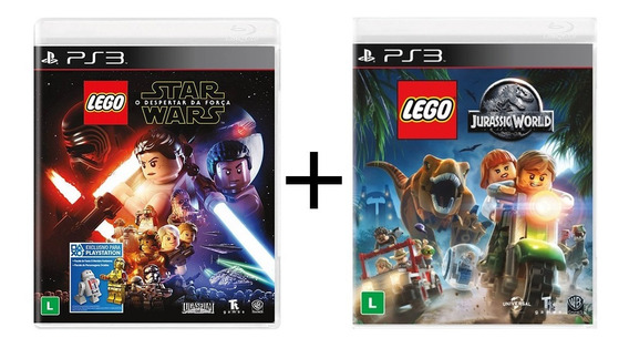 Combo Lego Star Wars + Lego Jurassic World - Ps3 - Novo