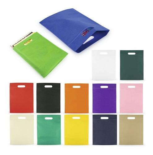 Imagen 1 de 6 de 12 Bolsa Ecológicas Tamaño 28cm X 36cm Fuelle 6cm Colores Su