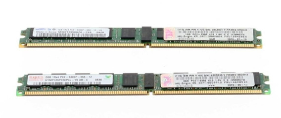 Kit Memoria Ibm 2gb (2x1gb) Pc2-5300 Cl4 Ecc Ddr2 39m5864