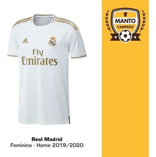 Camisa Feminina Real Madrid 2019/2020 Home Frete Grátis