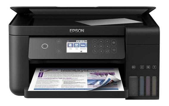 Impressora a cor multifuncional Epson EcoTank L6161 com wifi 110V preta