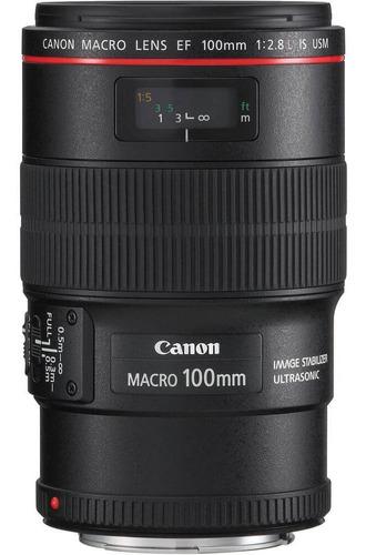 Imagem 1 de 7 de Lente Canon Ef 100mm F/2.8l Is Usm Macro Ultrasonic