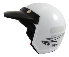 Capacete Moto Aberto Wind V2 Speed Lines Branco Tam 56