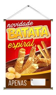 Banner De Batata Frita Espiral- 60x90cm