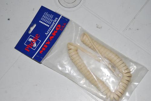 Cable Telefono Fijo Espiral 7 Pies Miyako Nuevo