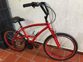 Bicicleta Calo 100 Sport Alumínio Vermelha Aro 26