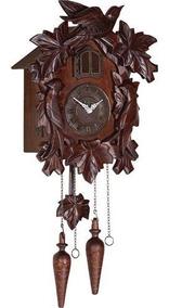 Relógio De Parede Cuco Musical Quartz Madeira Herweg 5379
