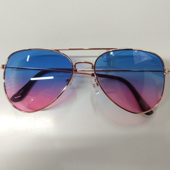 Óculos De Sol Aviador Feminino Dourado 2019