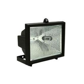 Refletor Retangular Preto P/ Lâmpada Halógena 150w 78mm