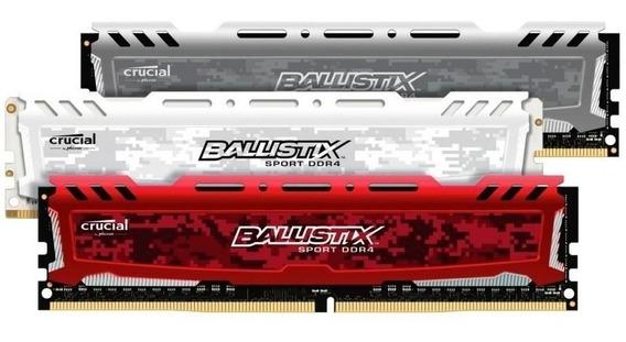Memória Ddr4 Crucial Ballistix Sport 3200mhz 8gb Pc Desktop