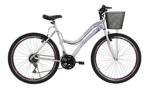 Imagem 1 de 4 de Bicicleta Feminina Athor Musa Aro 26 18 Machas Com Cestão