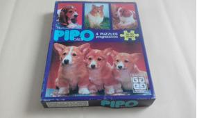Grow 4 Puzzles Progressivo Pipo Cães Completos Anos 80