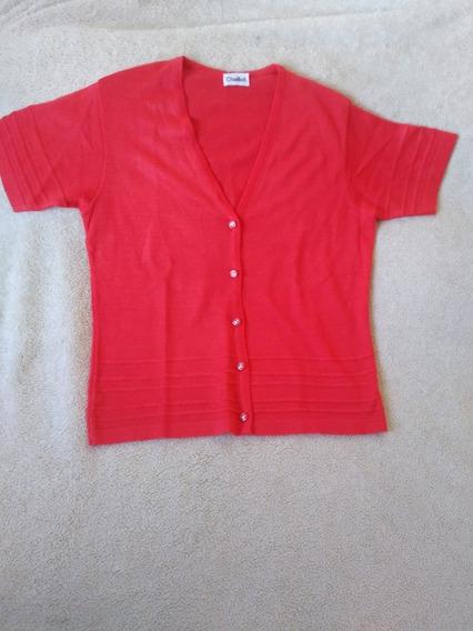 Saco Sweater Remera Mujer Fino T L Rosa Coral