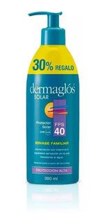 Dermaglos Protector Solar Fps 40 Emulsion X 380ml Familiar