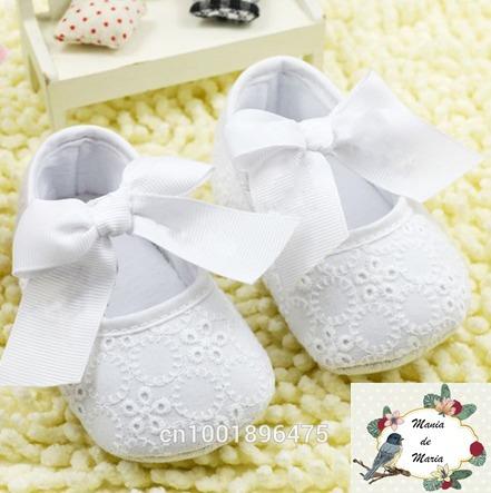 Sapato Baby Tecido Bordado