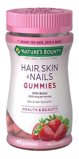 Natures Bounty Hair Skin & Nails Gummies X 40 Comp