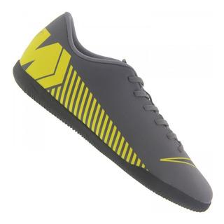 Tênis Futsal Infantil Nike Mercurial Vapor Club Ic Chumbo