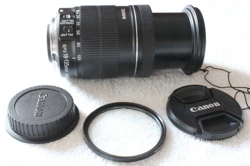 Lente Canon 18-135mm Com Filtro Uv. A Vista 590
