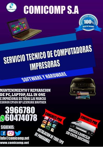 Soporte Técnico De Computadoras, Laptops, All One